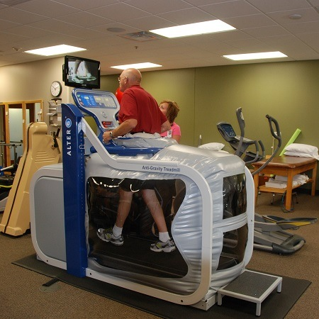 Man On a Rehabilitation Treadmill