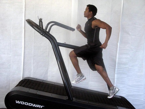Man Sprinting on Treadmill