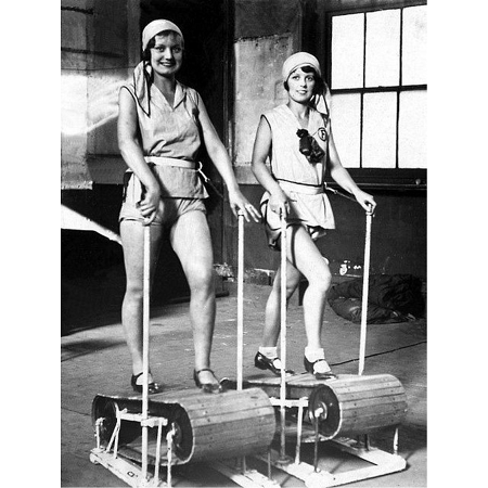 One of First Treadmills in History