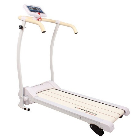 Confidence Power Trac Pro Motorized Electric Folding Treadmill  On White Surface