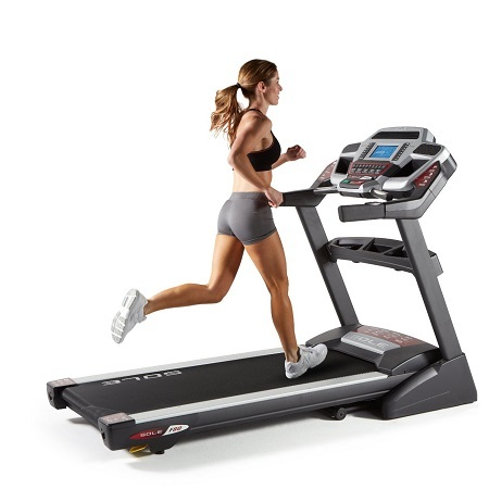 SoleWoman Running On Fitness F80 Folding Treadmill